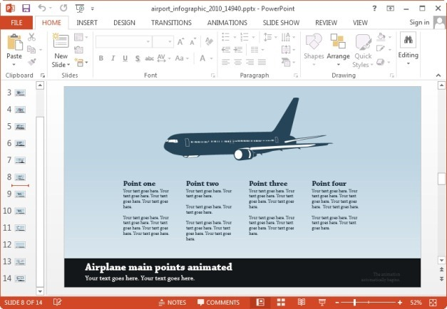 airport template for powerpoint
