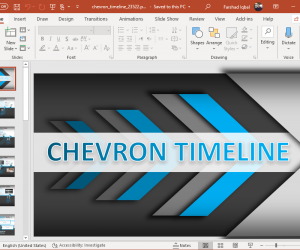 animated chevron timeline for powerpoint