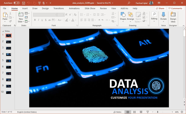 animated data analysis powerpoint theme
