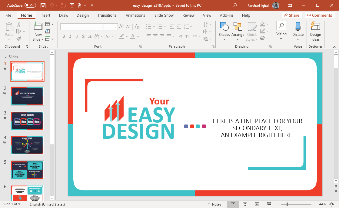 animated easy design template for powerpoint