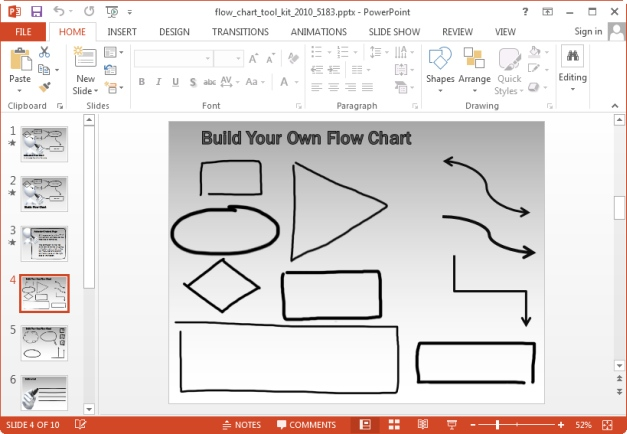 animated flowchart template for keynote and powerpoint