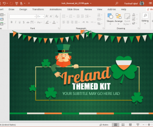 animated ireland powerpoint template