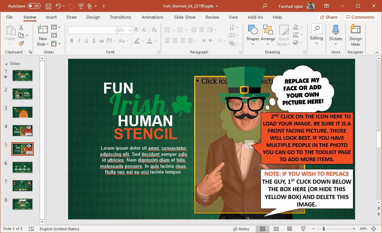 animated irish powerpoint template