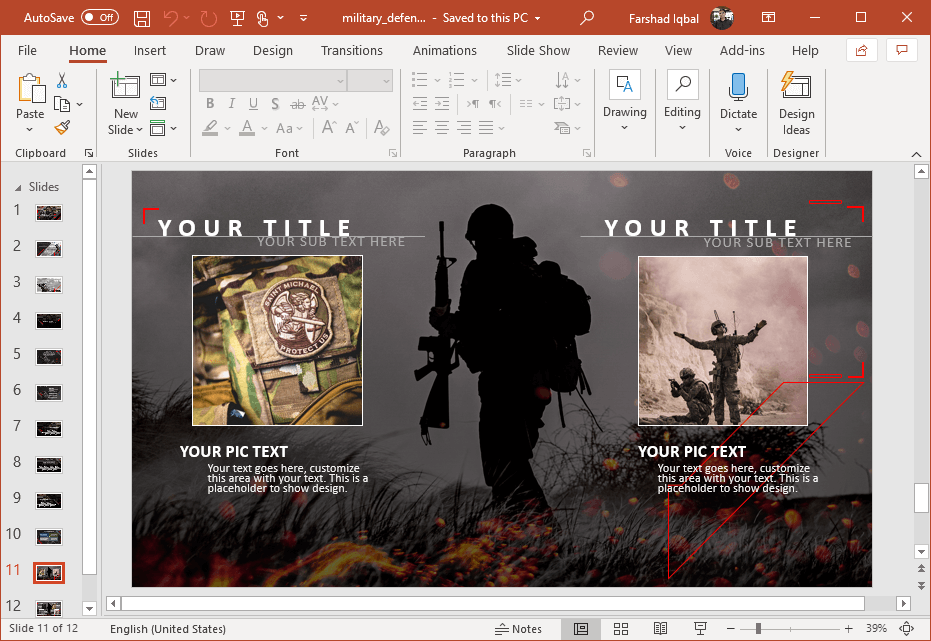 animated military design