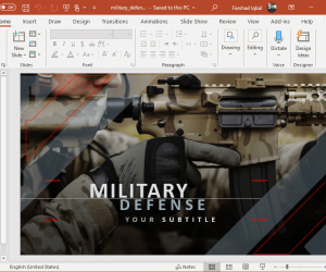 animated military powerpoint template