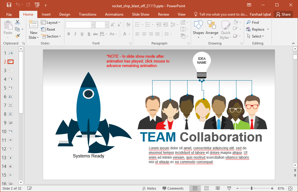 Animated startup powerpoint template