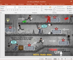 animated video game powerpoint template