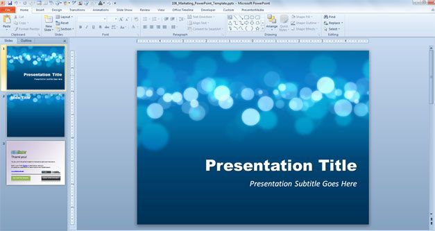 free awesome marketing powerpoint template for Office 2010
