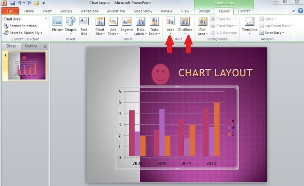 layout axis powerpoint