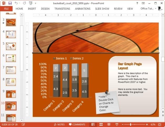 bar charts for basketball stats