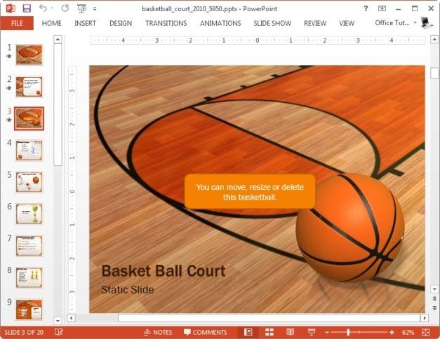 basketball court template