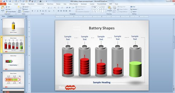 Free Battery PowerPoint Template