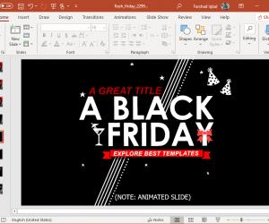 black friday concept slide