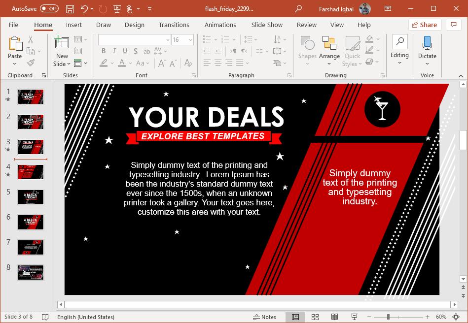 black friday presentation template