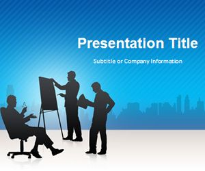 Business Conference Blue PowerPoint Template