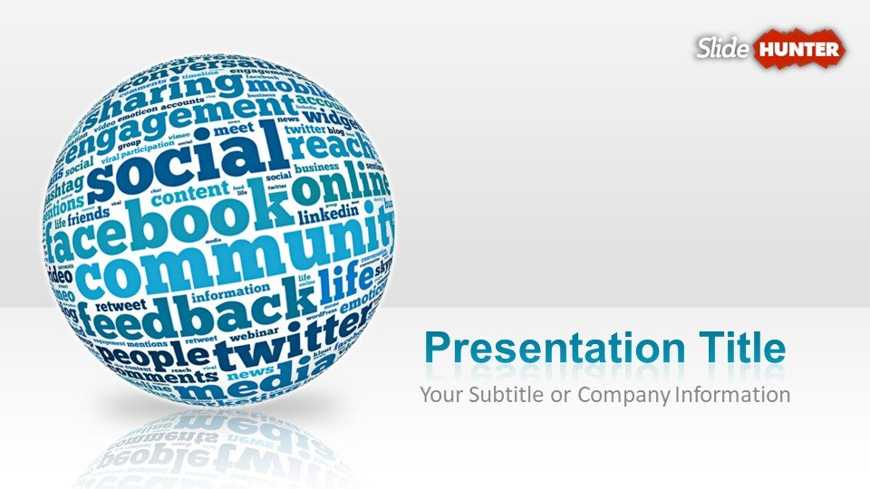 Blue Creative Social Media PowerPoint template