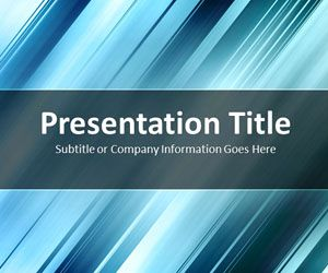 Slanted Bars Blue PowerPoint Template