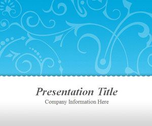 Vintage Floral Blue PowerPoint Template