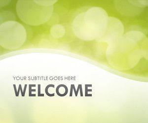 Green Bokeh PowerPoint Template
