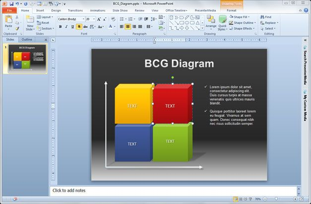 Free Consulting Model PowerPoint Template (BCG Matrix)