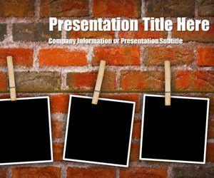 Peg Brick PowerPoint Template