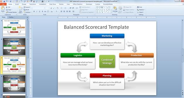 Free BSC PowerPoint Template