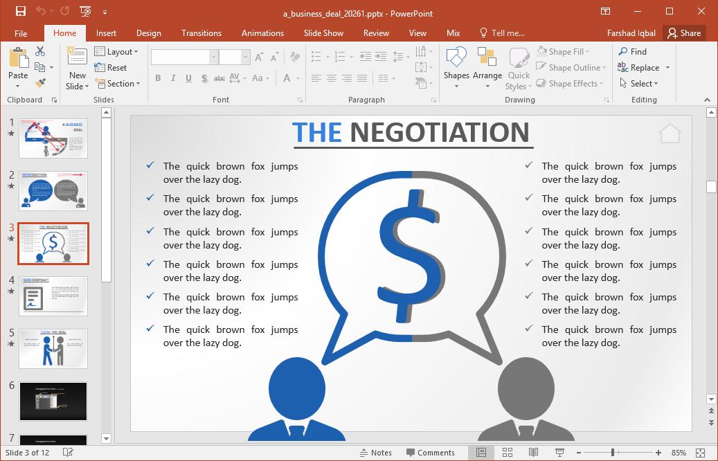 business deal powerpoint template