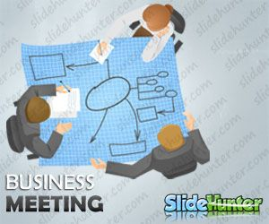 Business Meeting Character Planning Illustration