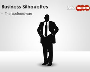 Businessman Silhouettes for PowerPoint Presentations