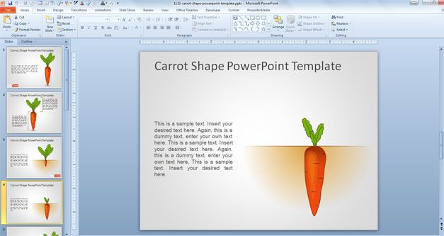 free carrot PowerPoint template