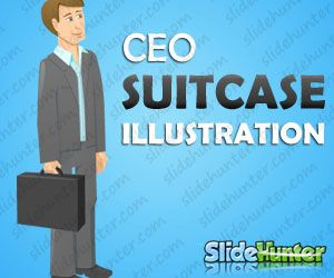 CEO Business Character with Suitcase
