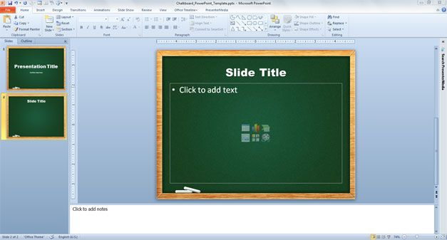 Chalkboard template PPT for presentations