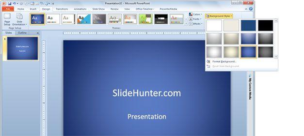change the presentation background color