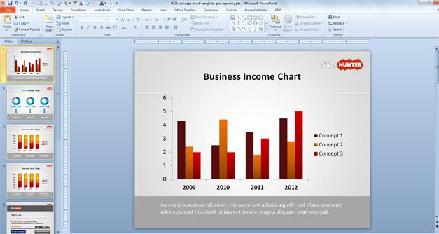 Chart template for PowerPoint