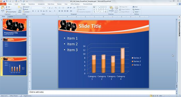 Free Call Center PowerPoint Template download