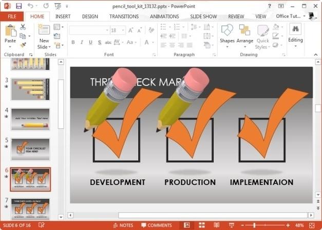 checklist slides