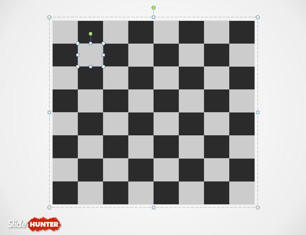 Chess Board PowerPoint Template Slide