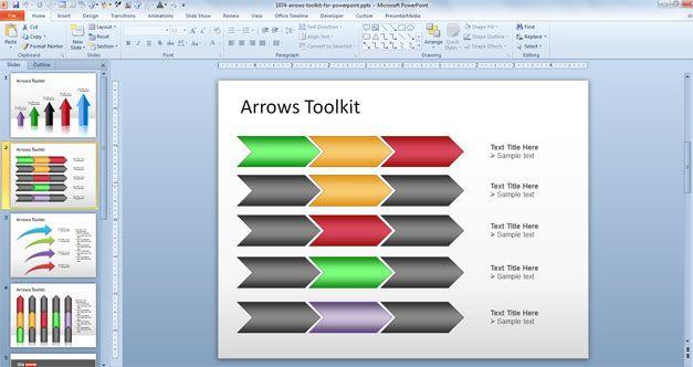 Free chevron arrows powerpoint templates