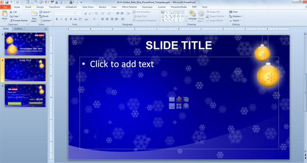 Christmas slide design for PowerPoint