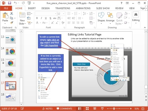 circular diagram editing instructions