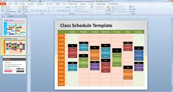 Timesheet template for PowerPoint
