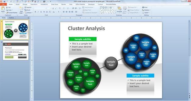 Data mining PowerPoint template