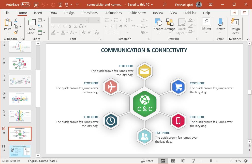 communication diagram slide