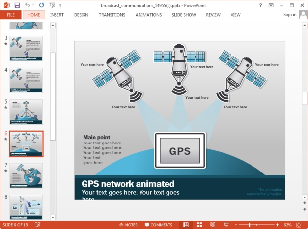 communication networks powerpoint template