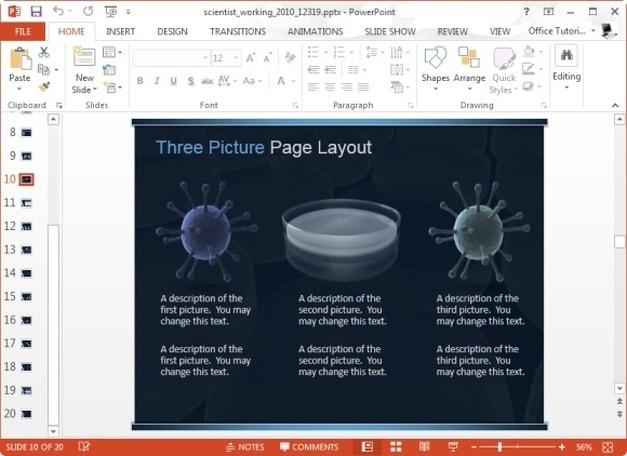 comparison slide for scientific presentations