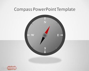 Magnetic Compass PowerPoint Template