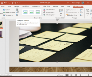 compress pictures in powerpoint 2019