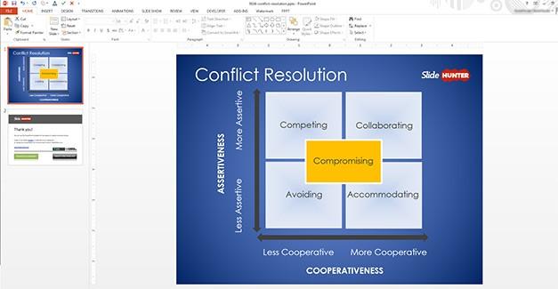 Conflict Resolution PowerPoint Diagram Design