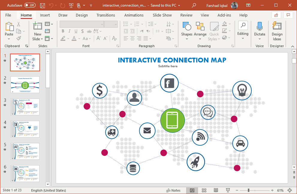 connections interactive powerpoint template