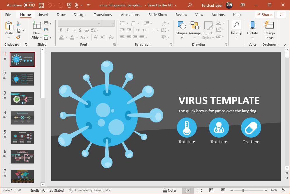 coronavirus powerpoint template